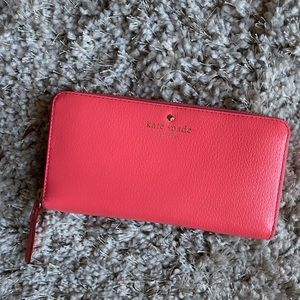 Coral Long Kate Spade Wallet